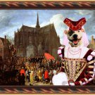 Staffordshire Bull Terrier Fine Art Canvas Print - Waiting for her turn