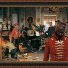 Staffordshire Bull Terrier Fine Art Canvas Print - Militarrily concert