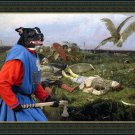 Staffordshire Bull Terrier Fine Art Canvas Print - After the battle