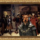 Welsh Terrier Fine Art Canvas Print - The judging of Joan of Arc