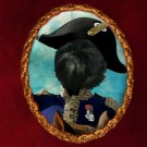 Affenpinscher Jewelry Brooch Handcrafted Ceramic - Napoleon's Soldier