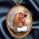 Afghan Hound Pendant Necklace Porcelain - Baron