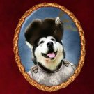 Alaskan Malamute Jewelry Brooch Handcrafted Ceramic - Russian Duke