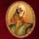 American Cocker Spaniel Jewelry Brooch Handcrafted Ceramic - Noble Lady