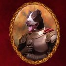 American Staffordshire Terrier Jewelry Brooch Handcrafted Ceramic -  Brave Knight