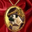 Anatolian Shepherd Dog Pendant Necklace Porcelain - Countess