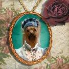 Yorkshire Terrier Pendant Necklace Porcelain - -Young Duchess