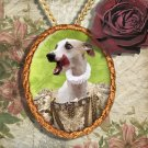Whippet Jewelry Brooch Handcrafted Ceramic - Princess