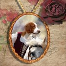 Welsh Springer Spaniel Pendant Jewelry Handcrafted Ceramic - Lady