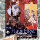 Weimaraner Poster Canvas Print  -  THE BLUE ANGEL Movie Poster