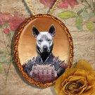 Thai Ridgeback Dog Pendant Jewelry Handcrafted Ceramic - Samurai