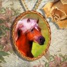 Palomino Horse Haflinger Horse Jewelry Pendant Necklace Handcrafted Ceramic