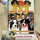 Australian Shepherd Art Prints  - Singin' in the Rain Movie Poster