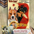 American Staffordshire Terrier Poster Canvas Print - Notorious Movie Poster