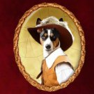Basenji Jewelry Brooch Handcrafted Ceramic by Nobility Dogs