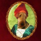 Airedale Terrier Jewelry Brooch Handcrafted Ceramic by Nobility Dogs