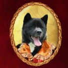 Akita Jewelry Brooch Handcrafted Ceramic by Nobility Dogs