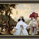Japanese Chin Art Canvas Fine Giclee Print by Nobility Dogs