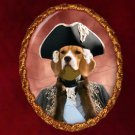 Beagle Jewelry Brooch Handcrafted Ceramic by Nobility Dogs