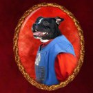 Staffordshire Bull Terrier Jewelry Brooch Handcrafted Ceramic by Nobility Dogs