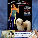 Havanese Dog Art Poster Canvas Print - Gilda Movie Poster