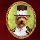 Norfolk Terrier Jewelry Brooch Handcrafted Ceramic by Nobility Dogs