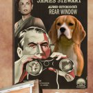 Beagle Vintage Poster Canvas Print - Rear Window Movie Poster