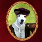 Parson Russell Terrier Jewelry Brooch Handcrafted Ceramic by Nobility Dogs