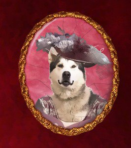 Alaskan Malamute Jewelry Brooch Handcrafted Ceramic by Nobility Dogs