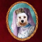 Dandie Dinmont Terrier Jewelry Brooch Handcrafted Ceramic by Nobility Dogs