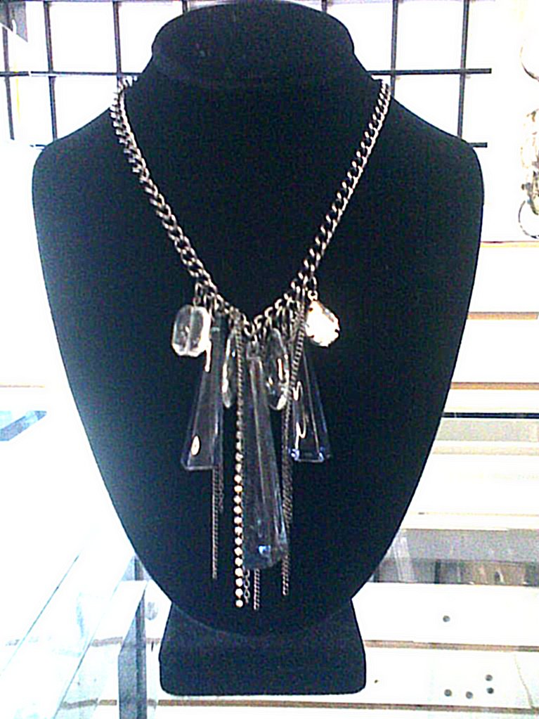 Rocker/glam Silver chain necklace