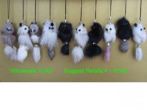 Cell Phone Charm Fur Chain