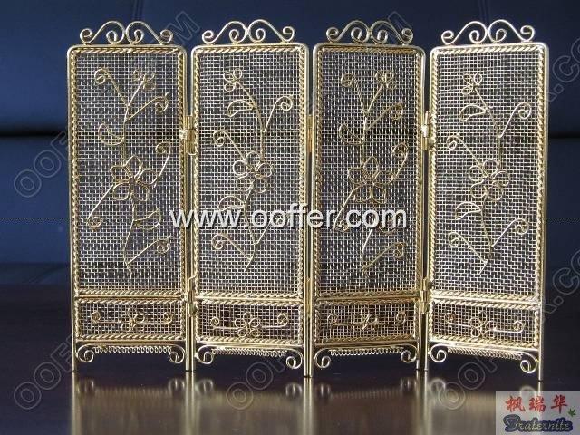 Iron Wire Craft Golden Screen