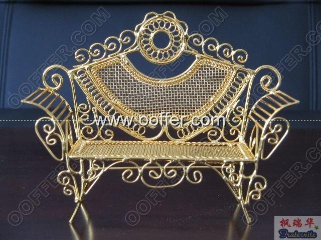 Iron Wire Craft Golden Chair
