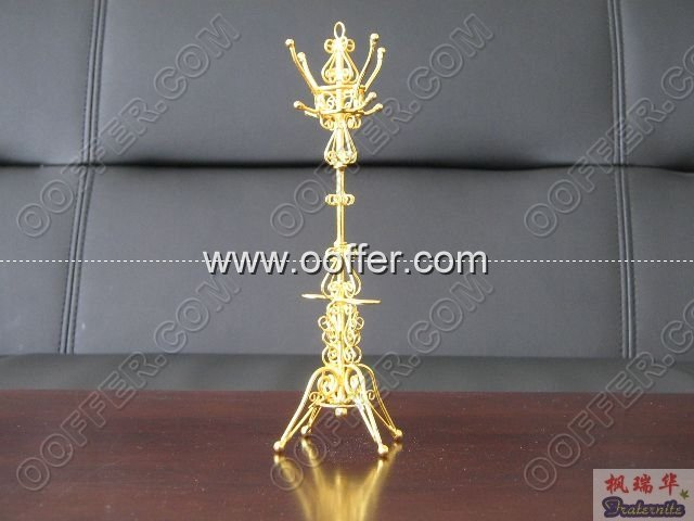 Iron Wire Craft Golden ClothTree