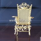 Iron Wire Craft Golden Rocking Chair Ex