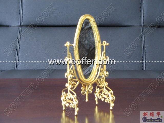 Iron Wire Craft Golden Mirror