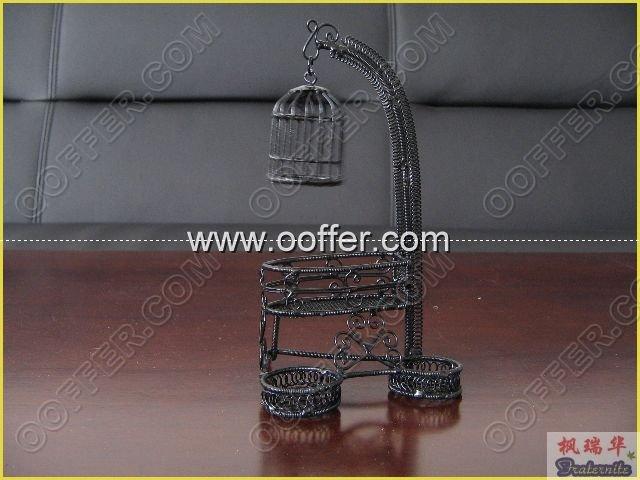 Iron Wire Craft Black Birdcage
