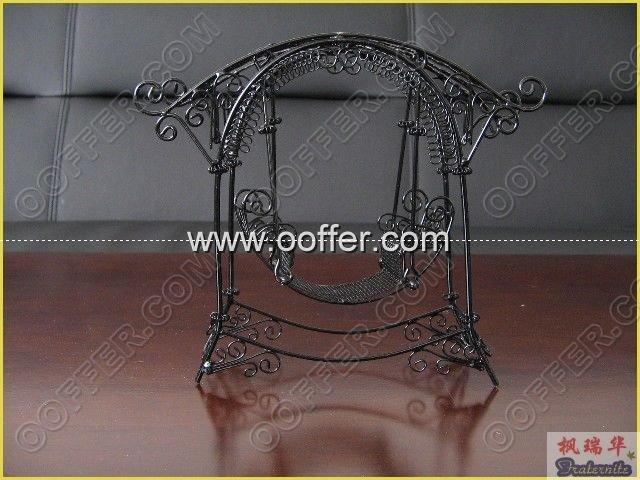 Iron Wire Craft Black Rocking Chair