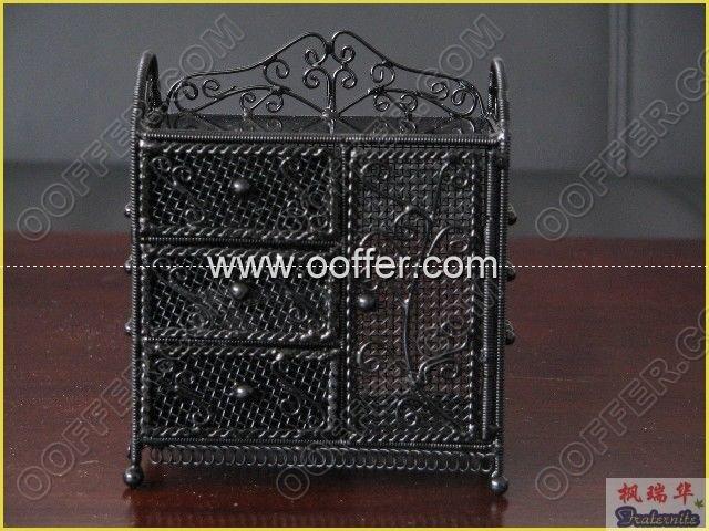 Iron Wire Craft Black Cabinet