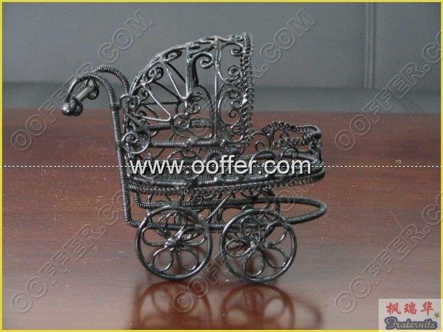 Iron Wire Craft Black Baby Cradle