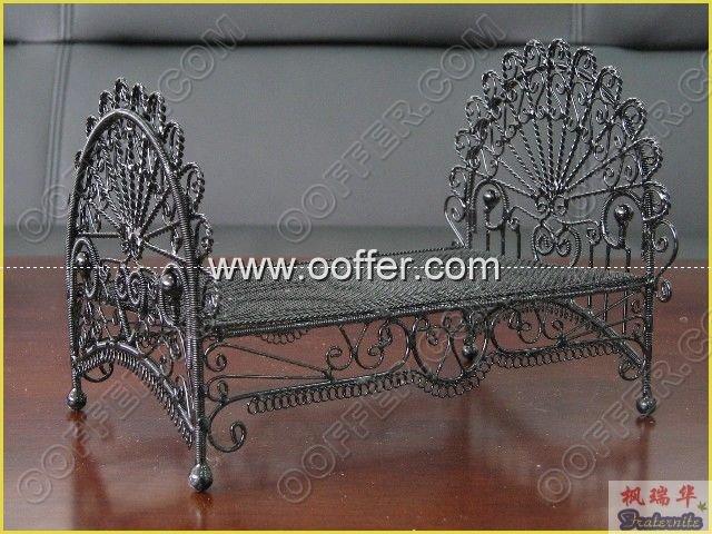 Iron Wire Craft Black Bed