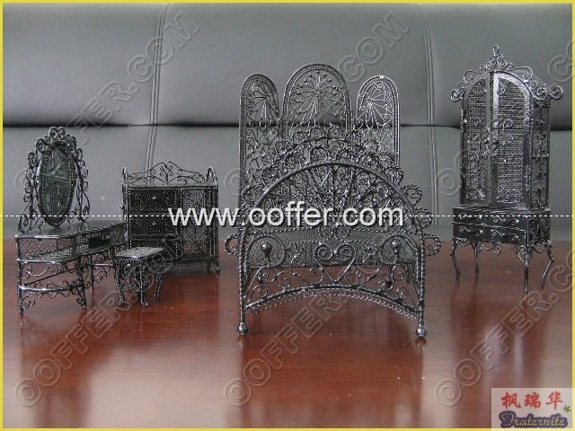Iron Wire Craft Black Bed Room Set