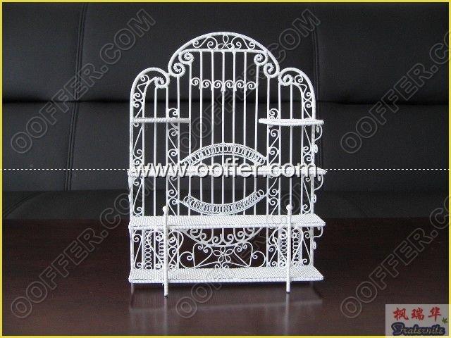 Iron Wire Craft White Shelf