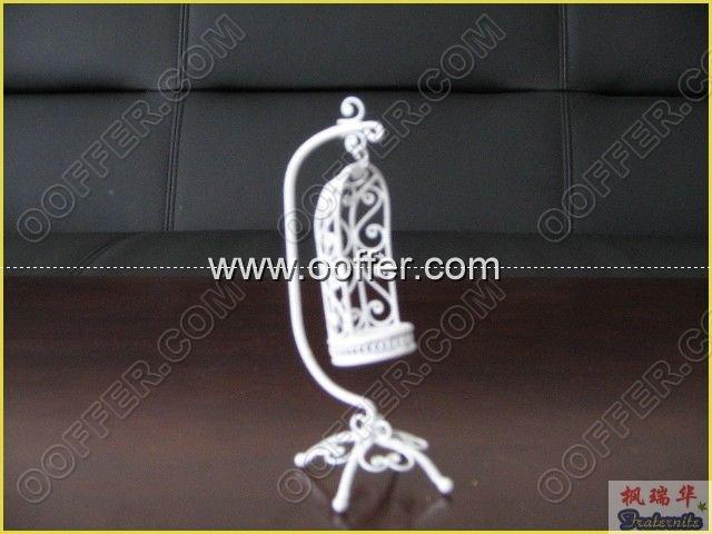 Iron Wire Craft White BirdCage
