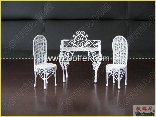 Iron Wire Craft White Home Set