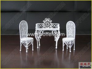 Iron Wire Craft White Home Set