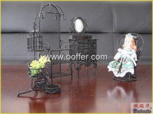 Iron Wire Craft Black Courtyard Set