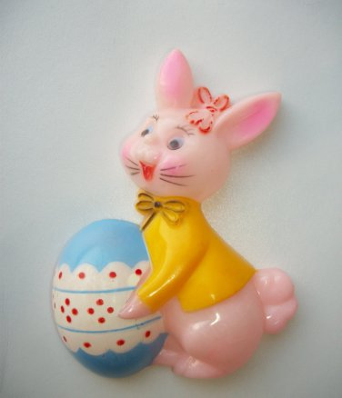 "Hanging Decoration EASTER BUNNY MADE IN HONG KONG 3"" X 4"