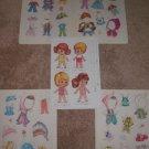 VINTAGE CHILD CHIBI PAPER DOLLS W/ COSTUME CLOTHES LOT UNCUT